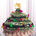 Newborn Christmas Tree Crochet Hat Crochet - Dearest Debi Patterns