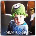 Cyclops Brain Slug Crochet Hat - Dearest Debi Patterns