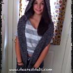 Crochet Snow Bear Scoodie