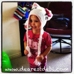 Hello Kitty Crochet Hat - Dearest Debi Patterns