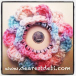 Crochet Hair Elastic Flower - Dearest Debi Patterns