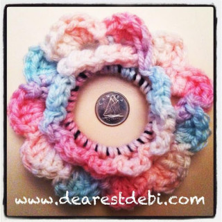 Crochet Hair Elastic : Crochet Hair Elastic Flower - Dearest Debi Patterns
