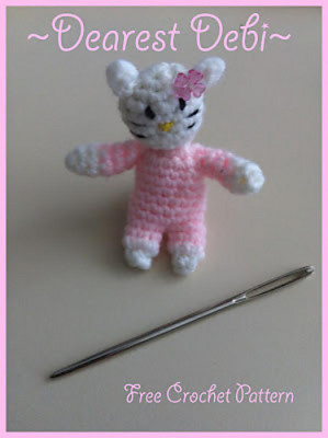 Mini Hello Kitty Inspired Amigurumi - Dearest Debi Patterns