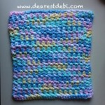 A quick and simple dishcloth - Dearest Debi Patterns