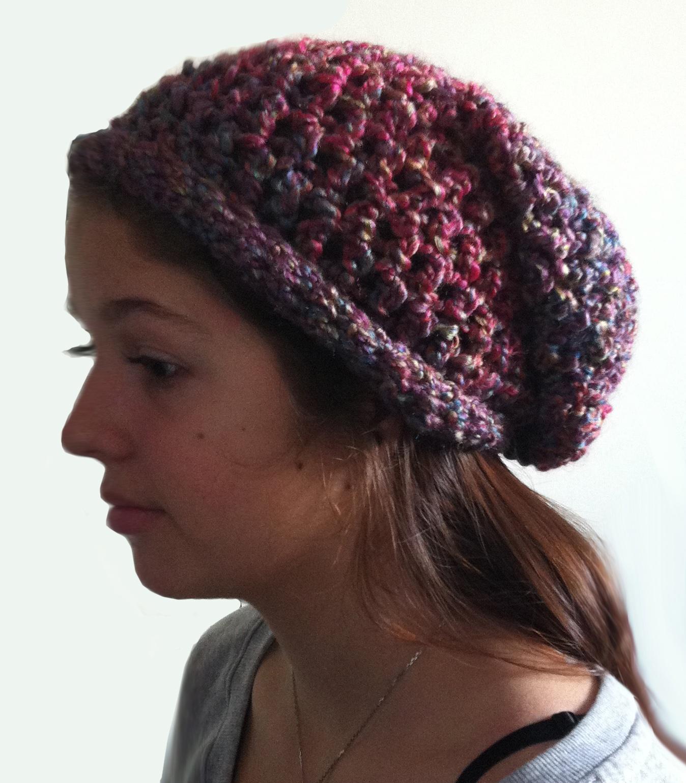 Crochet Slouch Hat: The Teens Crochet Slouchy Hat