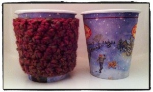 Stop Double Cupping. Crochet Coffee Cozy