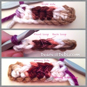 HDC working in the wrong side loop - Dearest Debi Patterns