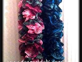 Sashay Ruffle Scarves - Dearest Debi Patterns
