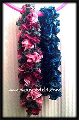Crochet Scarf Pattern Using Red Heart Sashay : Red Heart Sashay Crochet Ruffle Scarf - Dearest Debi Patterns