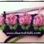 Crochet Flower Bud Stitch - Dearest Debi Patterns
