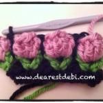 Crochet Flower Bud Stitch - Dearest Debi Patterns