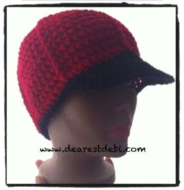 Crochet Mens Ball Cap - Dearest Debi Patterns