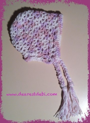 Crochet Preemie Bonnet - Dearest Debi Patterns