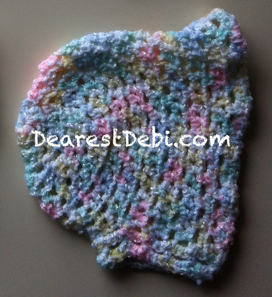 Preemie bonnet without ties - Dearest Debi Patterns