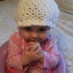 Raise Childhood Cancer Awareness crochet chemo cap