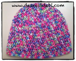 Crochet Cross Stitch Toddler Beanie - Dearest Debi Patterns