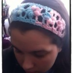 Crochet Puff Flower Stitch Headband - Dearest Debi Patterns