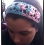 Crochet Puff Flower Stitch Headband - Dearest Debi Patterns