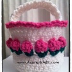 Crochet Flower Basket - Dearest Debi Patterns