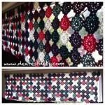 Crochet Flower Motif (No Sew) Valance - Dearest Debi Patterns
