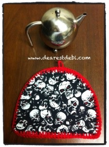 Crochet Edging Tea Cozy Pattern - Dearest Debi Patterns