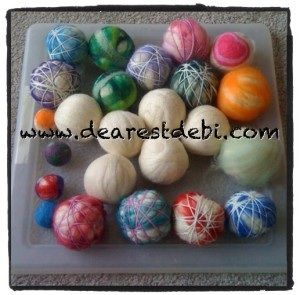 Wool Dryer Ball - Make your own tutorial by DearestDebi