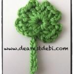 Crochet Four Leaf Clover - Dearest Debi Patterns