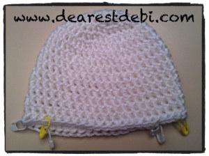 Newborn Crochet hat Ear flaps placement