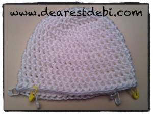 Newborn Crochet hat Ear flaps placement