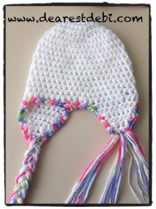 Newborn Crochet hat Braid Placement