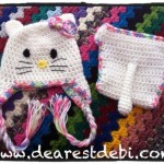 Crochet Newborn HelloKitty Hat & Diaper Cover - Dearest Debi Patterns