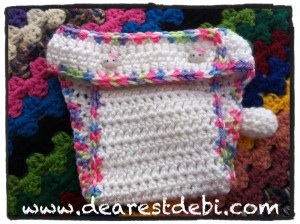 Crochet Newborn Hello Kitty Diaper Cover - DearestDebi Patterns