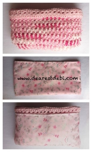 Crochet Ruffle Purse Adding Liner