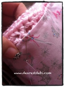 Crochet Ruffle Purse Sewing in Liner