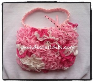 57a6eac2920 Crochet Ruffle Lined Purse - Dearest Debi Patterns
