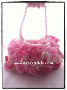 Crochet Ruffle Lined Purse