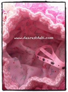 Crochet Ruffle Purse Inside liner