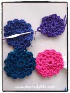 Crochet Flower Motif (No Sew) - Dearest Debi Patterns