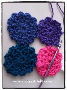 Crochet Flower Motif (No Sew) - Dearest Debi Patterns