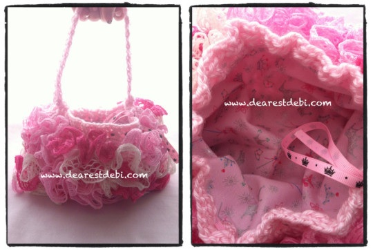 Crochet Ruffle Lined Purse - Dearest Debi Patterns