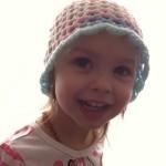 Crochet 3D Flower Beanie – Toddler