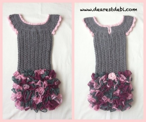 Crochet Dress - Little Miss Ruffles - Pattern by Dearest Debi