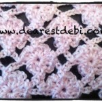 Crochet Flower Lattice Scarf Video Tutorial - Dearest Debi Patterns