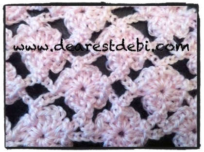 Crochet Flower Lattice Scarf Video Tutorial by Dearest Debi