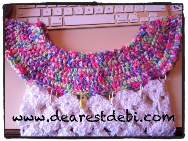 Crochet Toddler Flower Dress - Adding Lattice to Collar