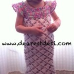 Crochet Toddler Flower Dress - Dearest Debi Patterns