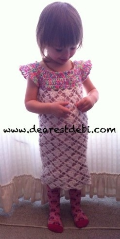 Crochet Toddler Flower Dress