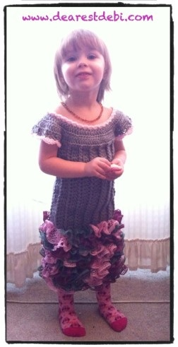 Crochet Dress - Little Miss Ruffles - Dearest Debi Patterns