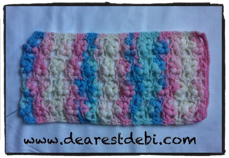 Crochet Puff Stitch Flower Free Pattern : Puff Flower Stitch Scarf - Interweave