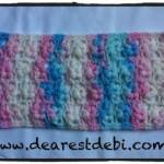 Crochet Puff Flower Stitch Scarf - Dearest Debi Patterns